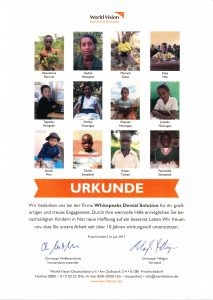 Urkunde World Vision